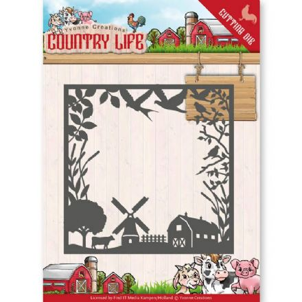 YCD10123 L ~ Country Life Frame ~ Country Life ~ Yvonne Creations
